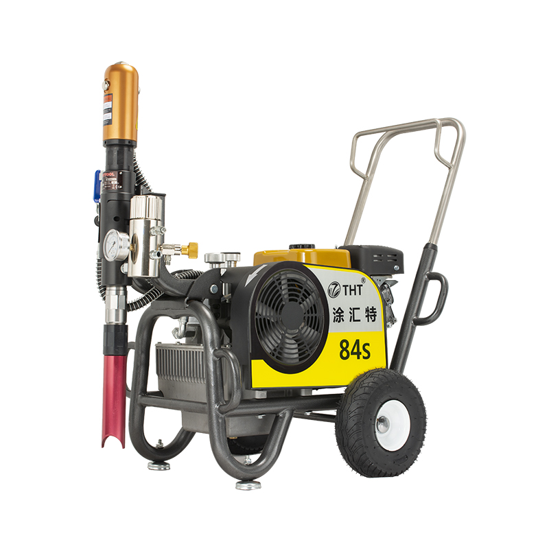 THT gasoline piston pump 84s home decoration paint spraying machine