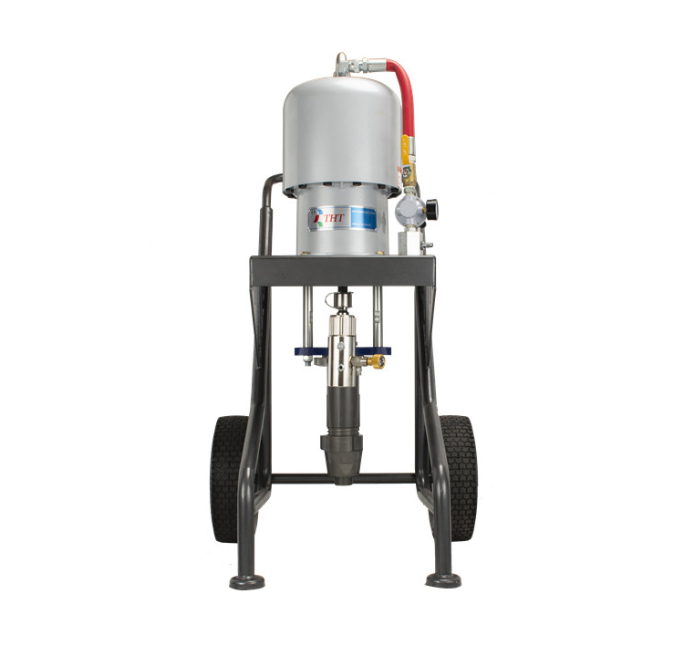 THT Pneumatic pump epoxy zinc-rich 45:1 plunger sprayer
